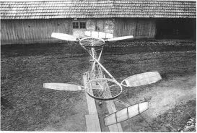 Paul Cornu invented the first piloted helicopter