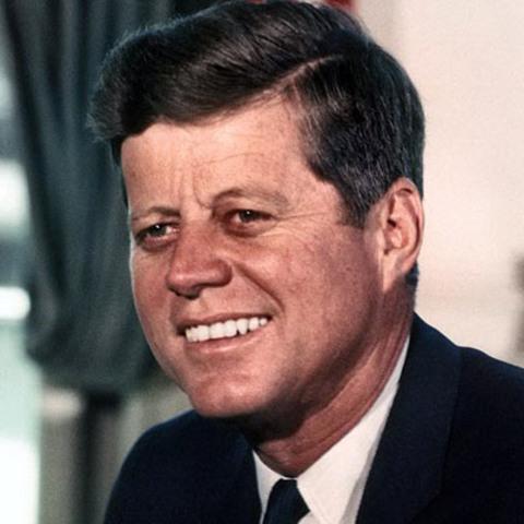JFK blown away