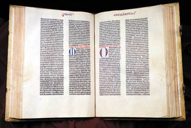 Gutenberg Prints the Gutenberg Bible