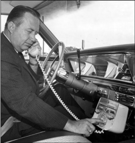 first mobile phone call was made from car
