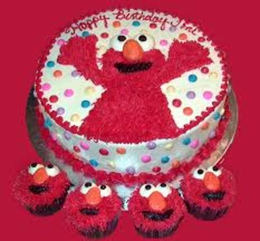 my frist birthday cake