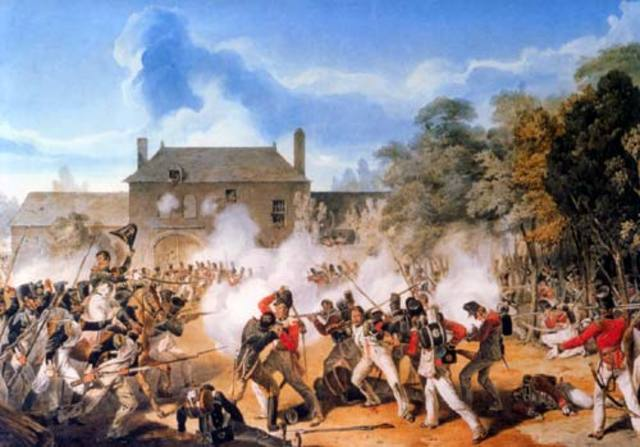 The Battle of Waterloo.