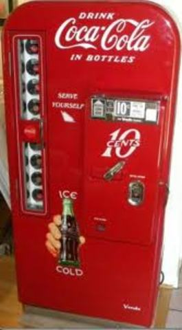 First bottled drink vending machines