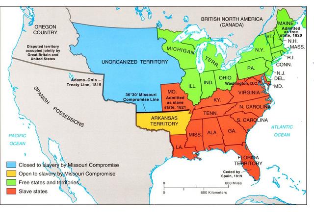 Kansas Statehood And The Civil War Bleeding Kansas Timeline - Bleeding us map