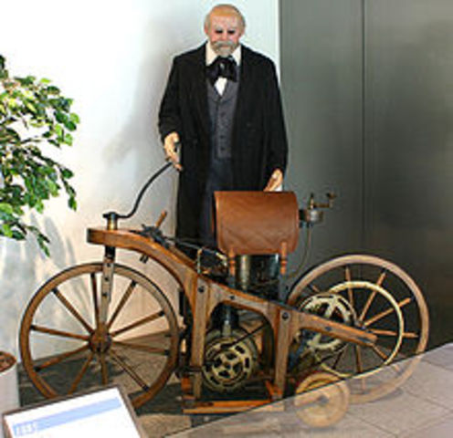 The first motorcycle was invented by Gottlieb Daimler.