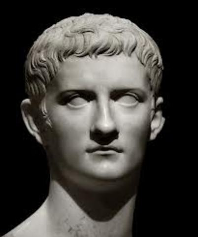 Caligula gets assassinated in his palace.