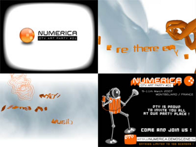 Numerica #1 invitation by Demoscene.tv