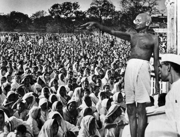 Gandhi organizes  nation-wide Satyagraha