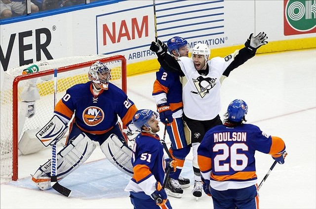 New York Shutout By Pens In Playoff Return