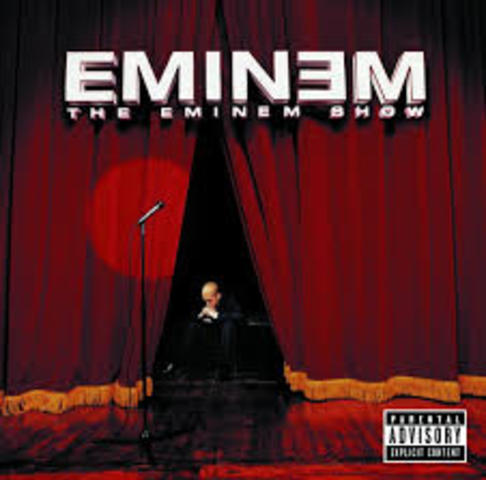 """His new LP, """"The Eminem Show,"""" came out May 26th, 2002"""