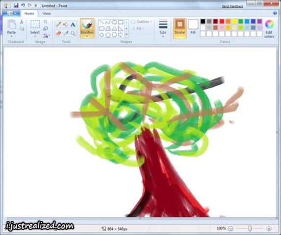 Grade 2 Immersion Students use the PAINT tool