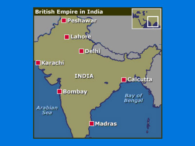 """British Empire now had control over all of India called a """"Raj"""""""