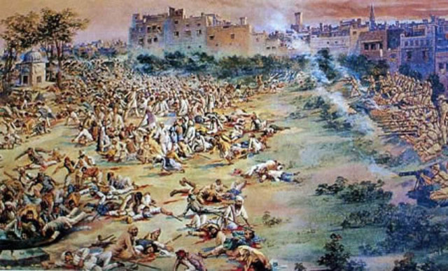 The Amritsar Massacre took place in the spring. 400 Indians died.