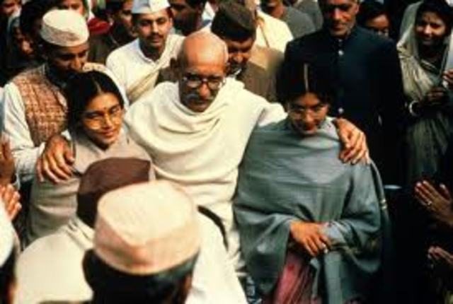 Gandhi publishes the Declaration of Independence of India.