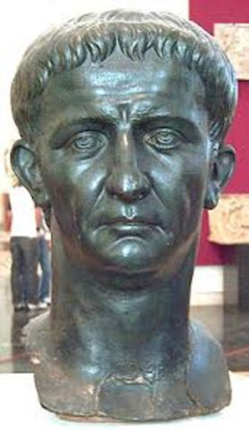 Claudius took the throne after Caligula at 51.