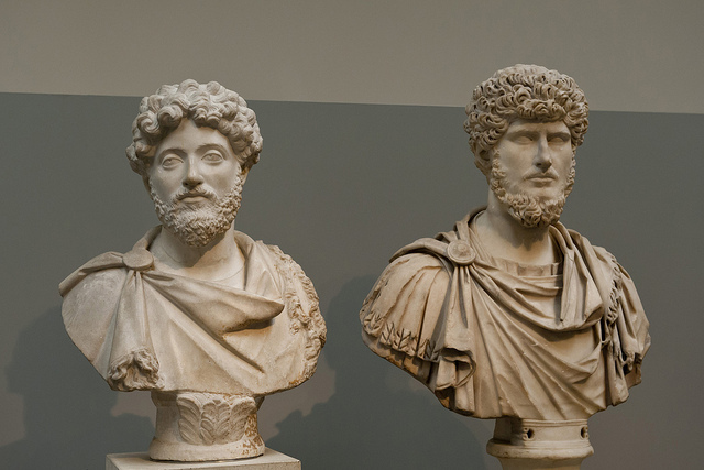 from 161 to 169, Marcus Aurelis ruled with his adopted brother