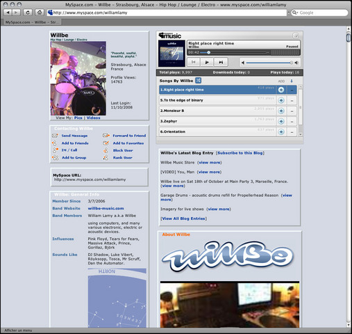 Myspace Page launch