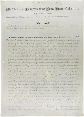 The Morrill Act