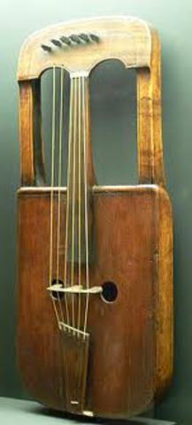 The crwth, a Celtic string instrument, is created.