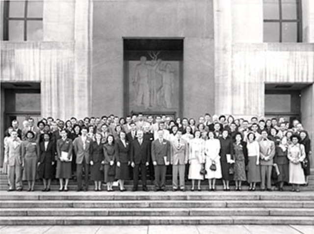 Delegates to the Mid-Century White House Conference on Children and Youth emphasized the importance of family-life education.