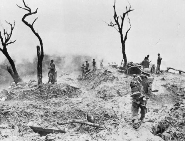 British and Indian Forces fight Japanese in Burma