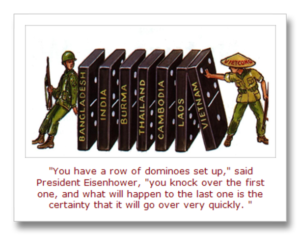 Eisenhower introduces domino theory