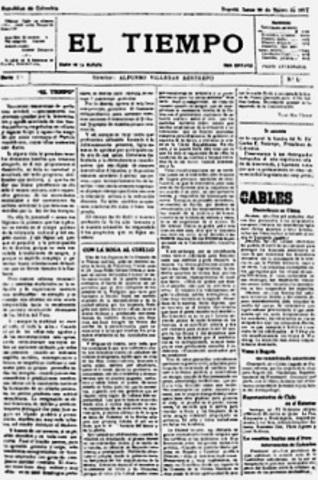 Se funda el periodico el TIEMPO