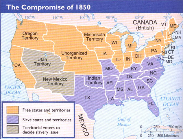 compromise of 1850 timeline timetoast timelines
