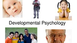 Developmental Psychology timeline