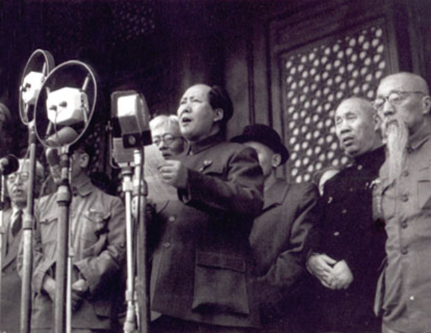 Mao Zedon a communist takes control of china