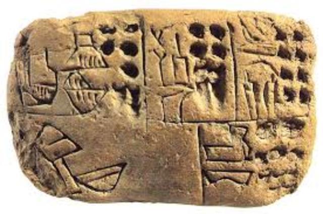 5000 AC. Inicio de la escritura