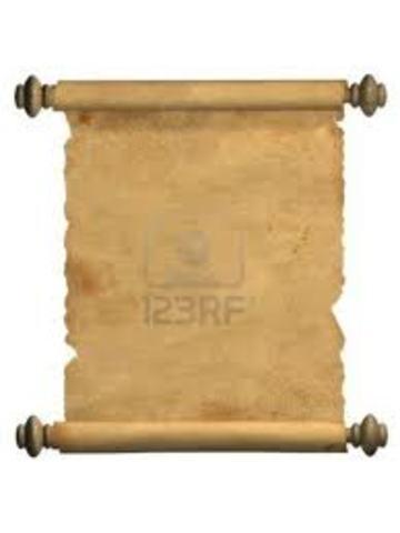 1500 AC. Se Inventó el pergaminos