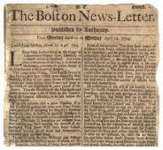 Publicación Gaceta de Bostón