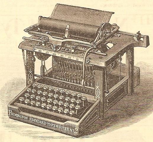 Aparece la máquina de escribir