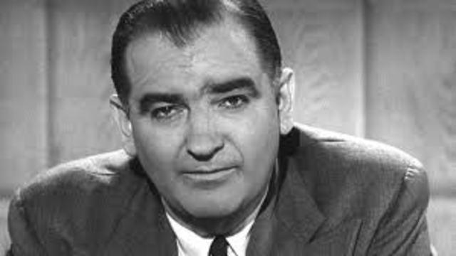 Senator MacCarthy's Communist hunt