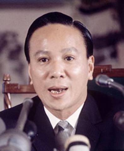 South Vietnamese President Thieu resigns