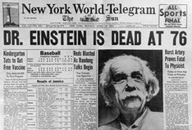 Albert Einstein's Death