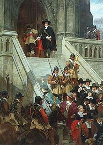 Cromwell disbands Rump Parliament