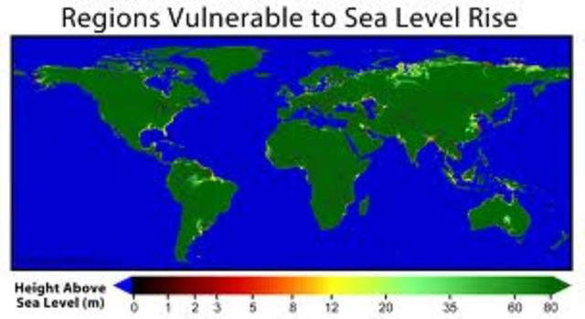 sea level is 5 feet higher than in 2009
