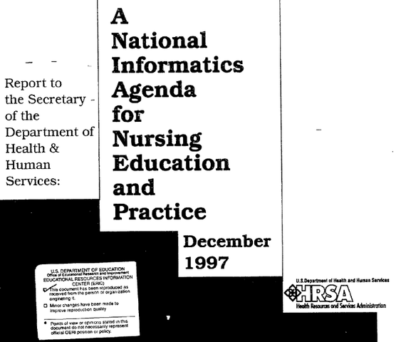 National Informatics Agenda for Nursing Education and Practice
