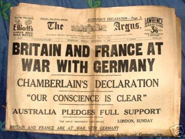 Start of WW II