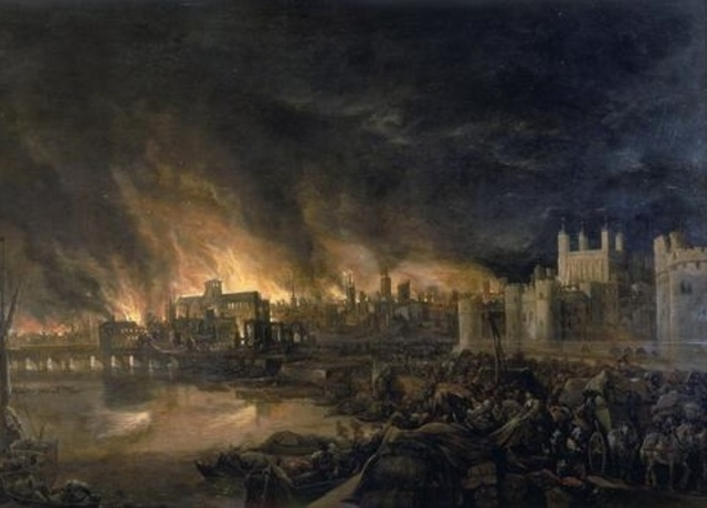 Start of the Great Fire of London