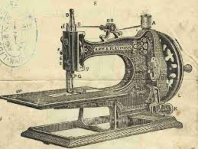 The sowing machine was invented.