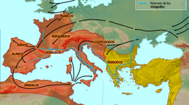 INVASIONES GERMANICAS  timeline