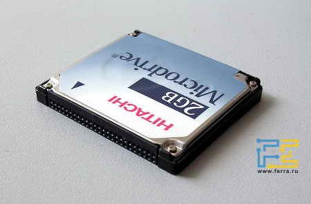Hitachi выпускает Microdrive ёмкостью 2 Гб.