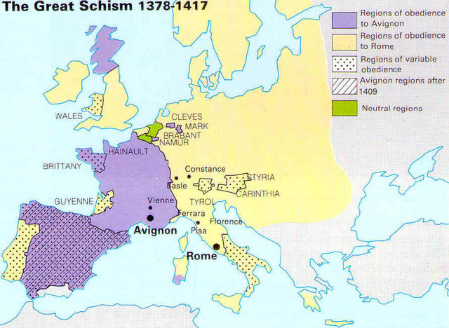 Catholic church from 1300 to 1800 timeline timetoast timelines great schism 13771417 gumiabroncs Gallery