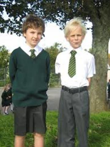 School Uniforms timeline | Timetoast timelines