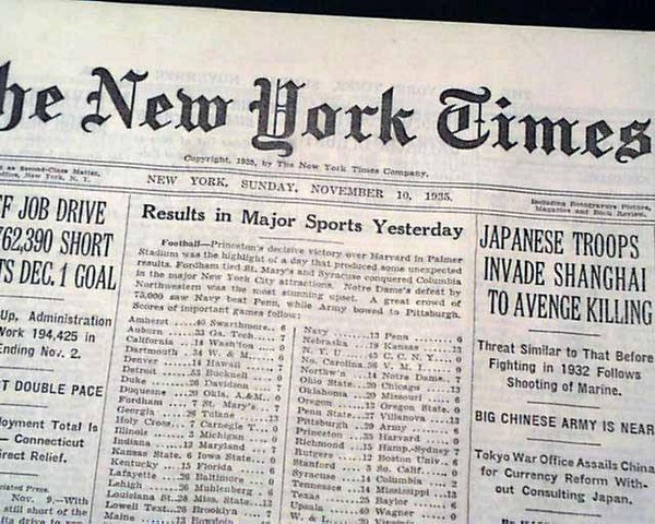 Japan Invades China starting WWII in the Pacific