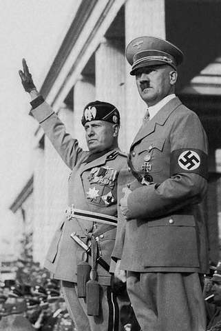 Nazi Germany and Fascist Italy sign a treaty of cooperation on October 25; on November 1, the Rome-Berlin Axis is announced.