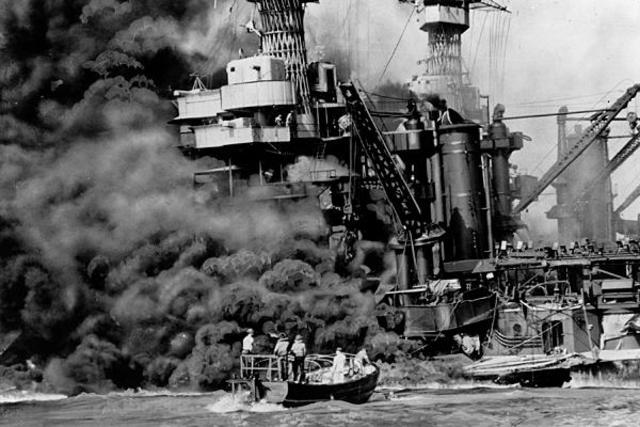 Japan bombs Pearl Harbor.